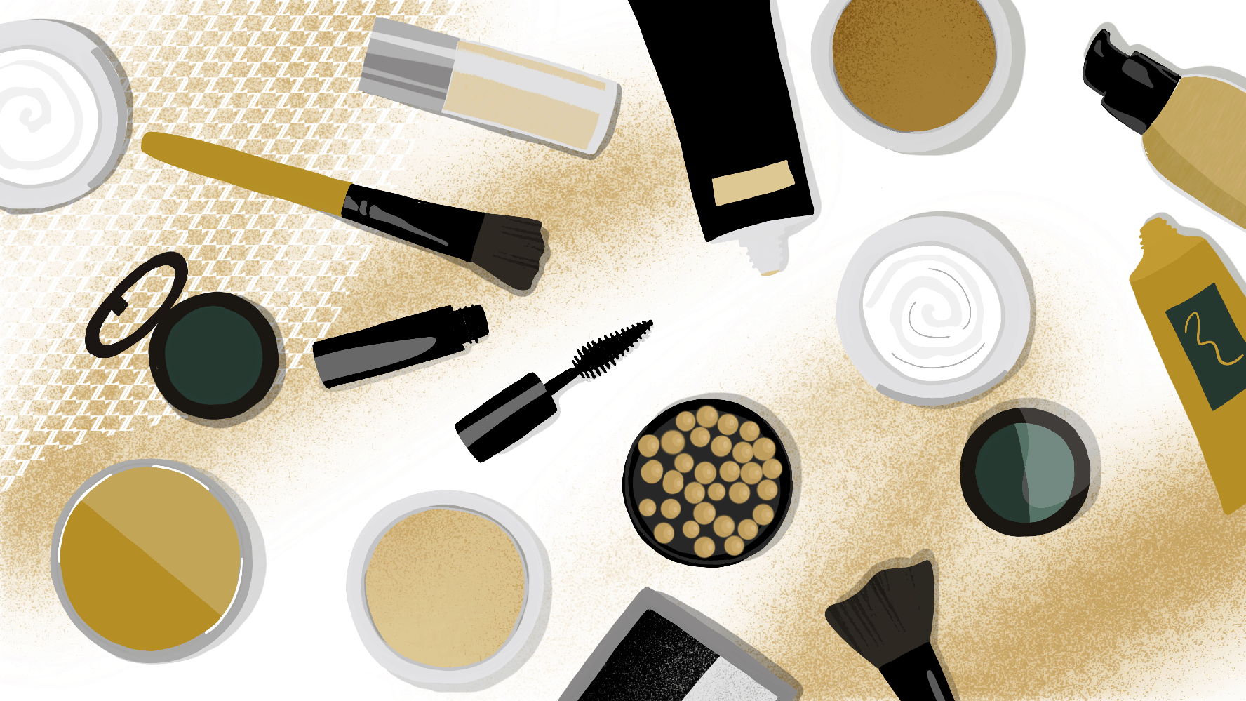 Heavy application of moisturizer, sunscreen or makeup[3]