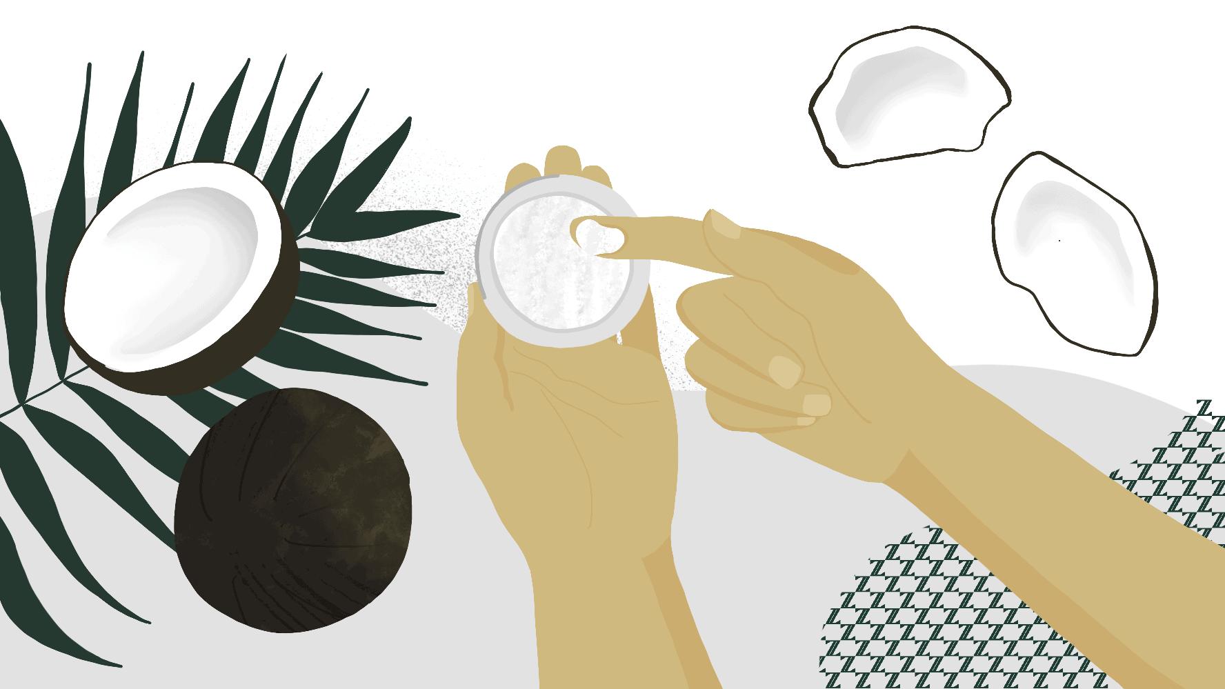 coconut oil rub